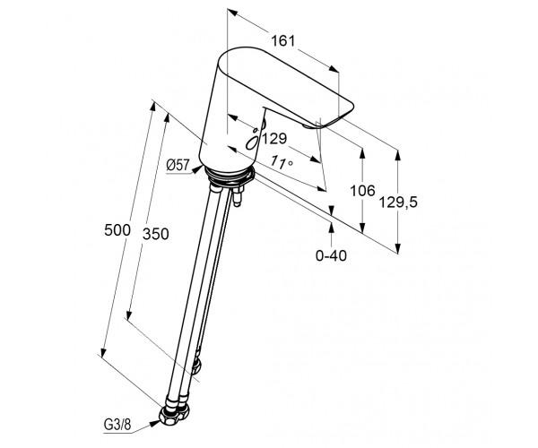 Сенсорный смеситель для раковины KLUDI BALANCE 5210205