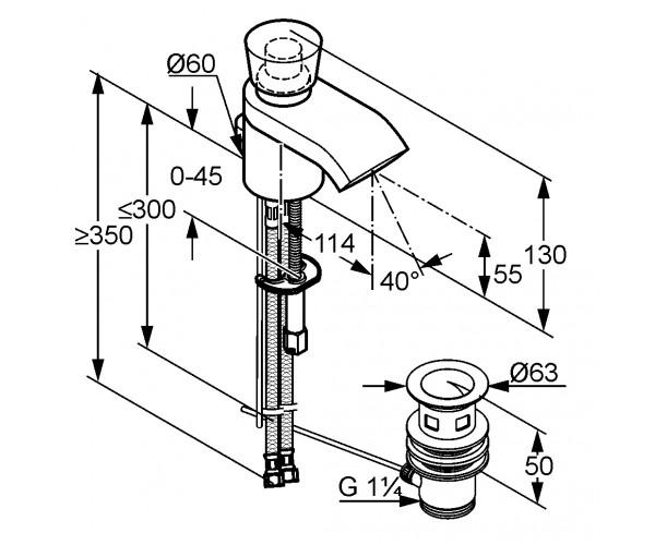 Смеситель для раковины KLUDI JOOP 55023H805
