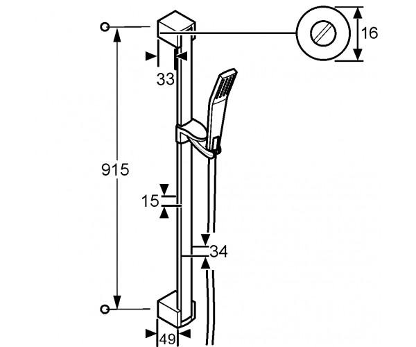 Душевой набор KLUDI JOOP 5513005-00