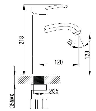 NOVAKO смеситель для раковины (средний), хром, IMPRESE 05200-M