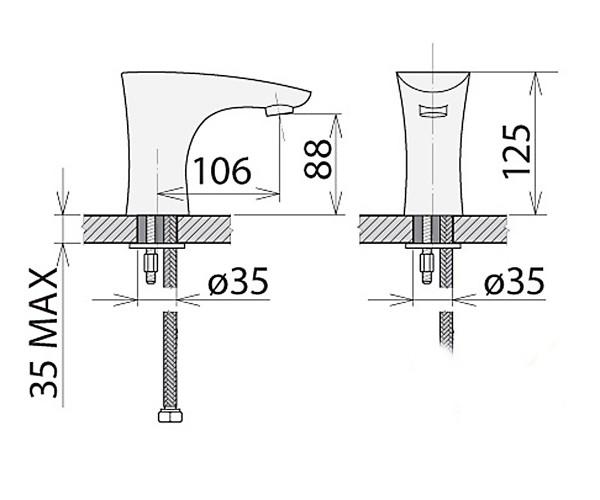 Смеситель для раковины WELLE 16V16S0