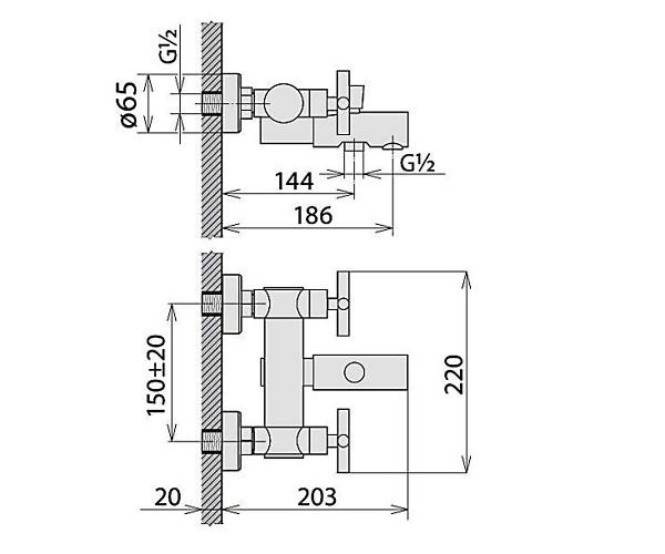 Смеситель для ванны WELLE FELIX 27070U8