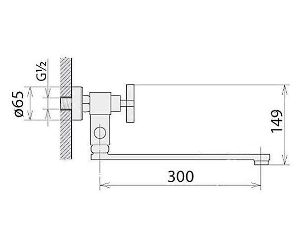 Смеситель для ванны WELLE WERNER 37102X2-T23