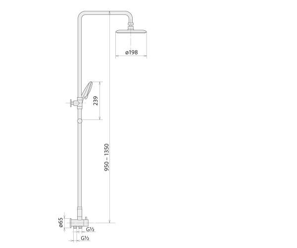 Душевая колонна WELLE 3R-1KM0404B-TH3341C