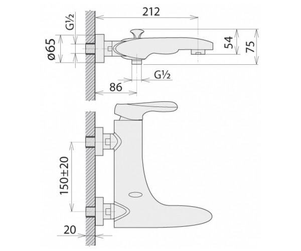 Смеситель для ванны WELLE ZELDA SB23187DC