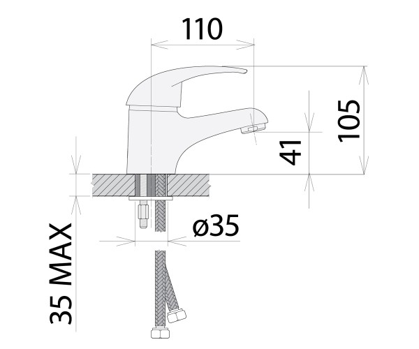 Смеситель для раковины WELLE ABBY UV16362D