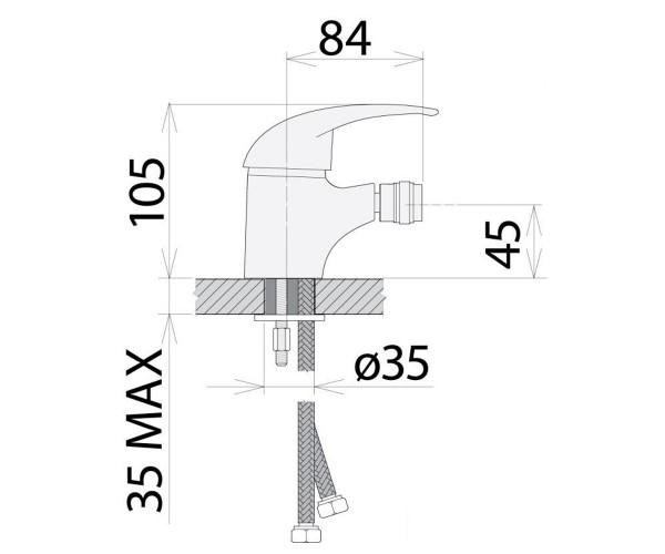 Смеситель для биде WELLE ABBY UV46362D