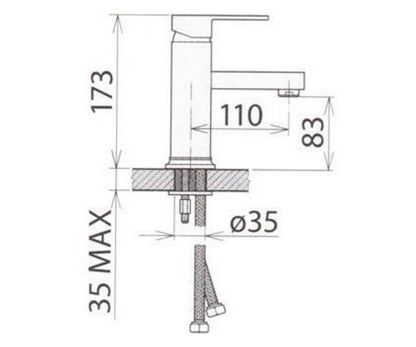 Смеситель для раковины WELLE CHRISTIAN VM16X48D