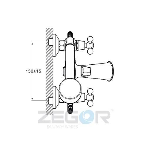 Смеситель для ванны ZEGOR (TROYA) DAK3-А827 (Т65-DAK3-A827)