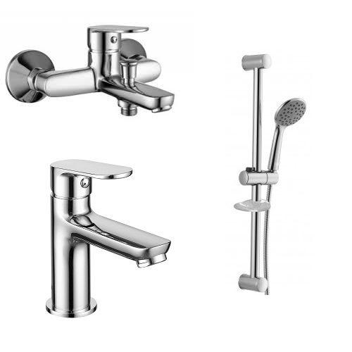 Набор смесителей для ванны Laska 10040+05040+R670SD + 1115 + W100SL1 C IMPRESE