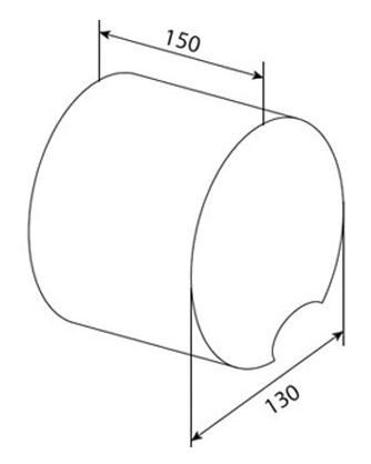 Держатель для туалетной бумаги с крышкой AM.PM Admire A10341400