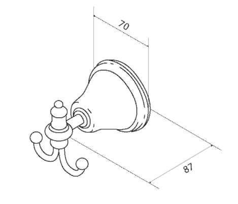 Двойной крючок для полотенец AM.PM 5 O'Clock A2535600