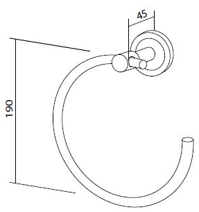 Кольцо для полотенец AM.PM Serenity A4034400