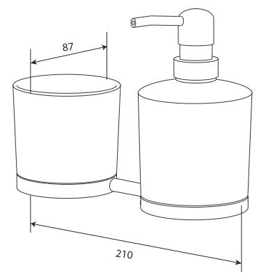 Диспенсер для жидкого мыла AM.PM SERENITY A40346900