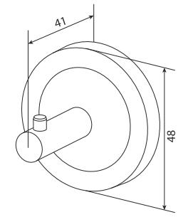 Крючок для полотенец AM.PM Serenity A4035500