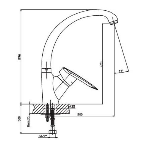 Кухонный смеситель Haiba Disk 011 HB0056