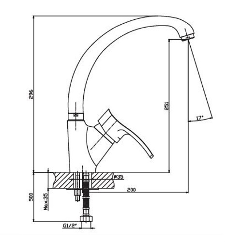 Кухонный смеситель Haiba Focus 011 HB0128