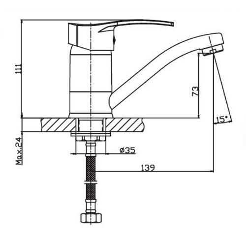 Смеситель для кухни HAIBA ONIX 555-15 HB0324