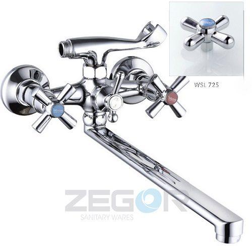 Смеситель для ванны ZEGOR (TROYA) T61-DFR-B725
