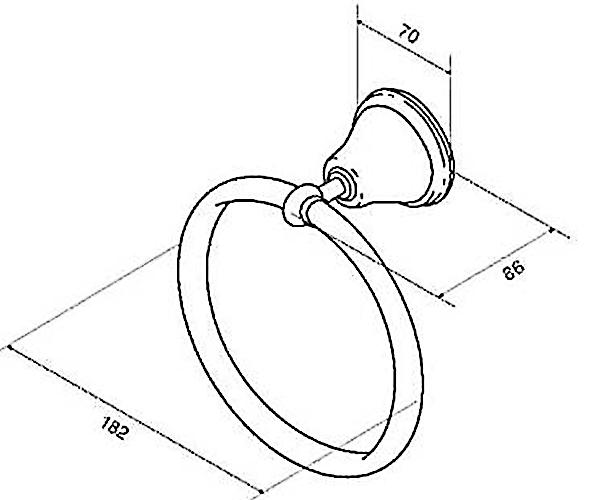 Кольцо для полотенец AM.PM 5 O'Clock A2534400