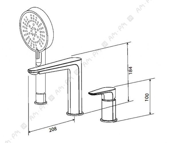 Смеситель на борт ванны AM.PM INSPIRE F5001300