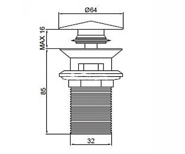 Донний клапан DEVIT 21031100