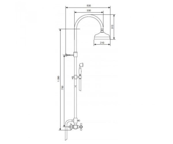Душевая система EMMEVI DECO OR1200281