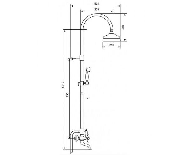 Душевая система EMMEVI DECO CR1261181