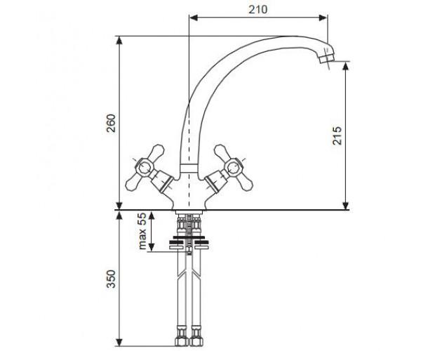 Смеситель для куxни EMMEVI DECO CR12717
