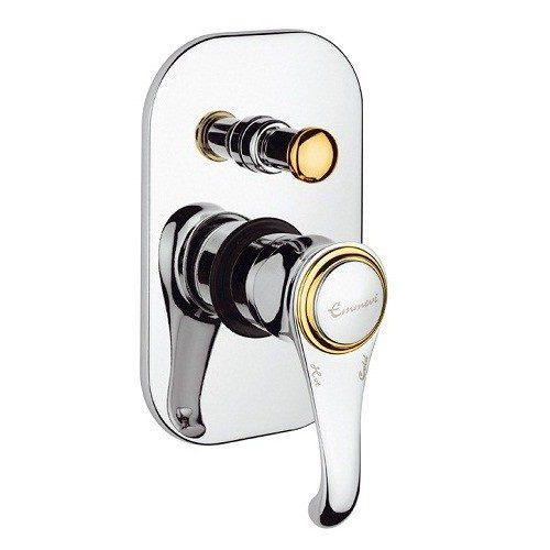 Смеситель для ванны EMMEVI TIFFANY белый-золото BO6019