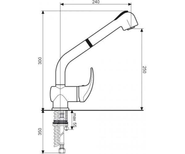 Кухонный смеситель EMMEVI LUXOR CR7066R