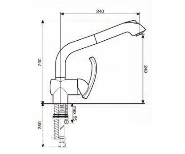 Смеситель для куxни EMMEVI DAKOTA CR73066
