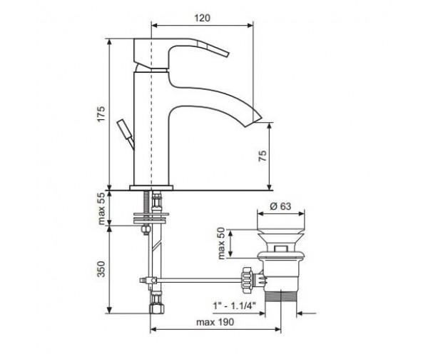 Смеситель для раковины EMMEVI NIAGARA CR74003