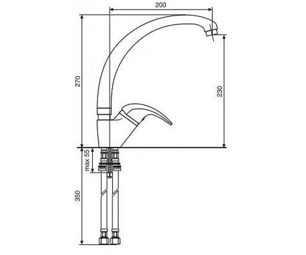 Кухонный смеситель EMMEVI Granit LUXOR VP 7087