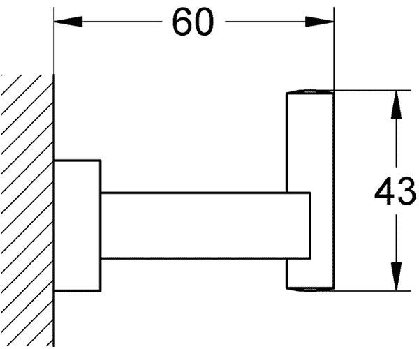 Essentials Cube Крючок для банного халата, хром GROHE 40511001