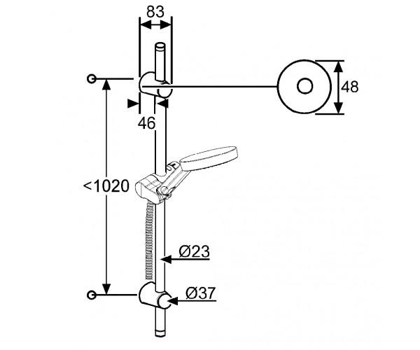 Душевой набор KLUDI A-QA 6209605-00