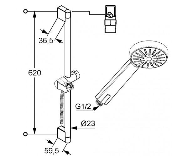 Душевой набор KLUDI A-QAb 1S 6563005-00