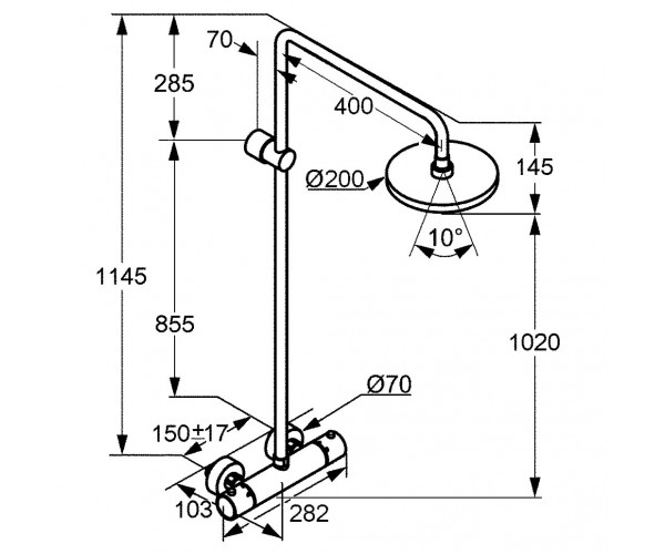 Душевая система KLUDI SHOWER SYSTEM 6608105-00