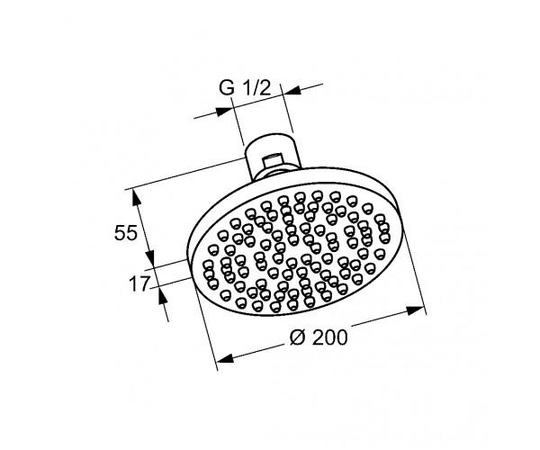Верхний душ KLUDI A-QA 6651005-00