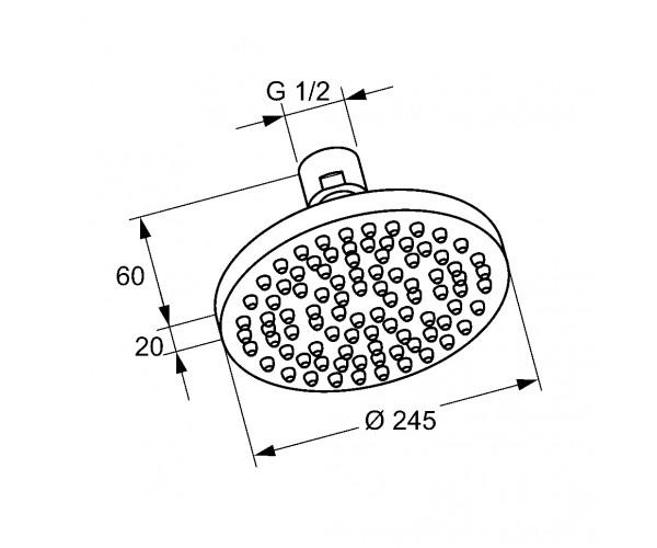 Верхний душ KLUDI A-QA ECO 6652105-00