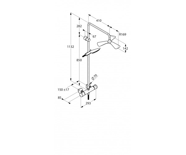 Душевая система KLUDI DUAL SHOWER SYSTEM FIZZ 6709505-00