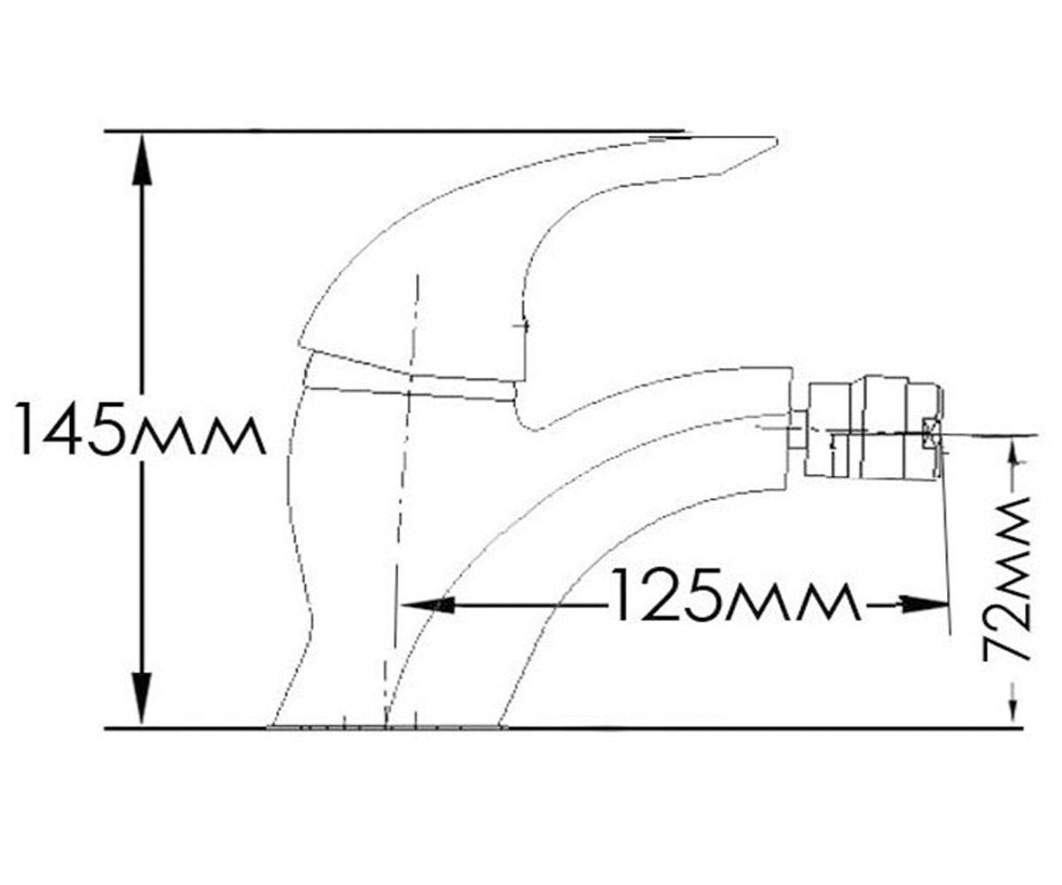 Смеситель для биде FORMIX ДИАНА FM3540240C