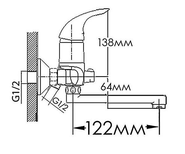 Смеситель для ванны FORMIX ДИАНА FM5733240C-15F