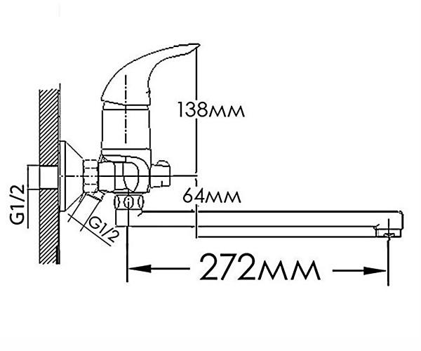 Смеситель для ванны FORMIX ДИАНА FM5733240C-35S