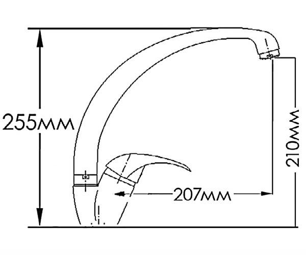 Смеситель для кухни MIXXEN ФЕНИКС HB7313030C-M7313