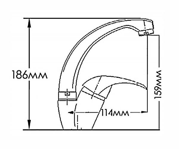 Смеситель для кухни MIXXEN ФЕНИКС HB7313030C-M7321