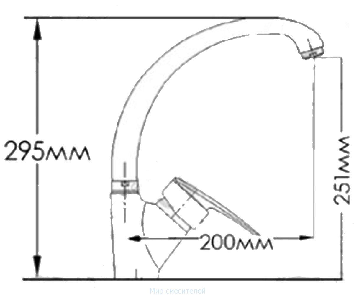 Смеситель для кухни MIXXEN МУЗА HB7537223C-M7313