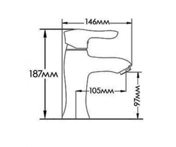 Смеситель для раковины MIXXEN РОМАНС MXAL0310