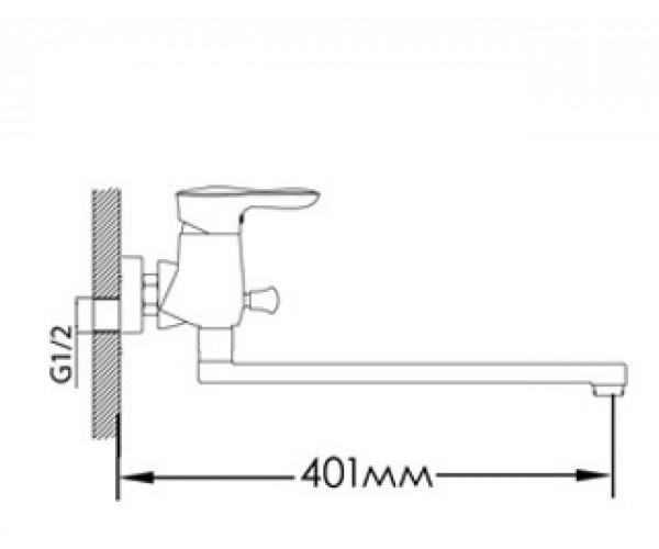 Смеситель для ванны MIXXEN РОМАНС MXAL0313