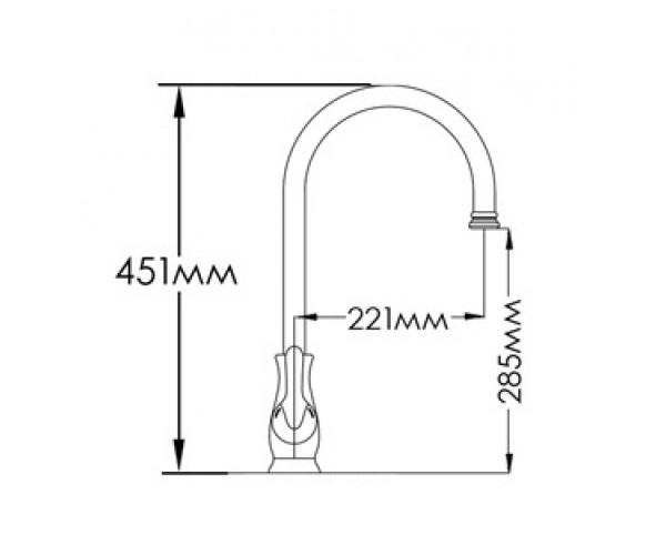 Смеситель для кухни MIXXEN РОМАНС MXAL0314